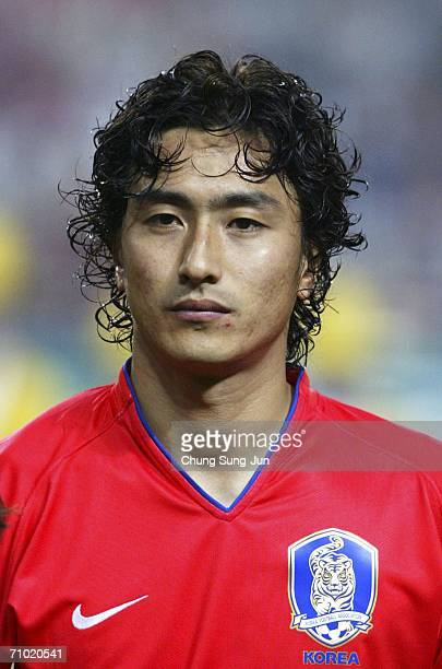 Ahn JungHwan of South Korea during the International friendly match between South Korea and Senegal at the SangAm World Cup stadium on May 23 2006 in...