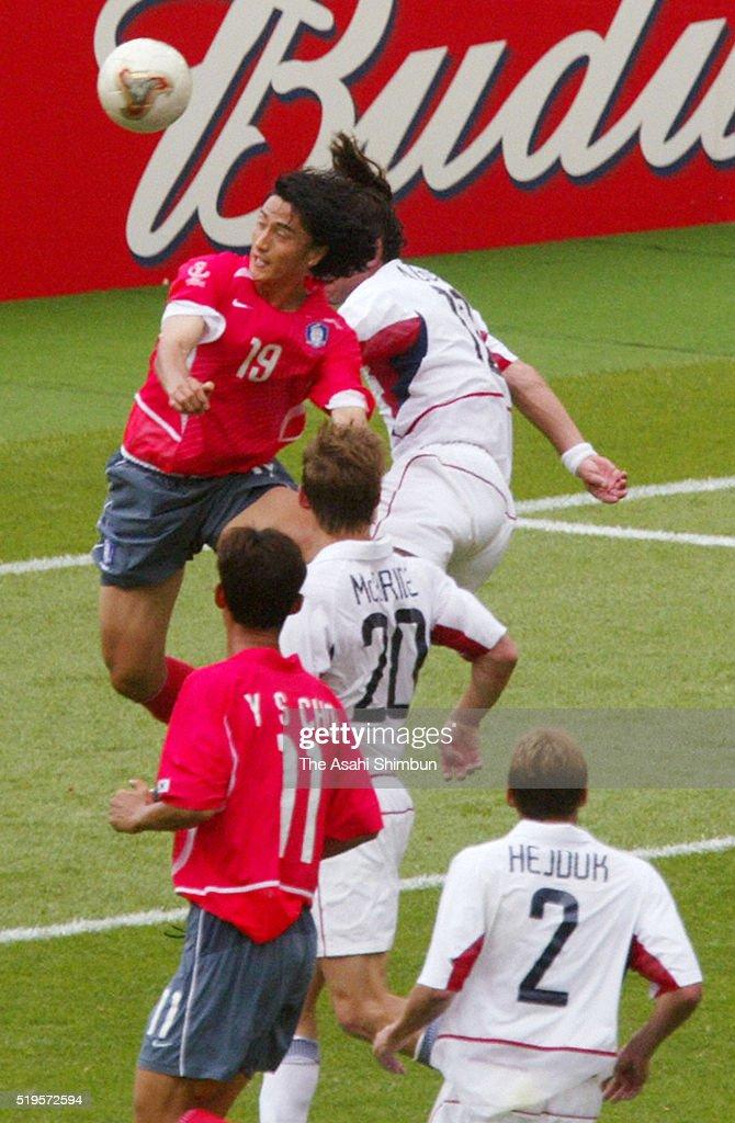 South Korea v United States - FIFA World Cup Korea/Japan Group D : News Photo