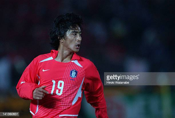 Ahn JungHwan of South Korea in action during the East Asian Football Championship match between Japan and South Korea at Yokohama International...