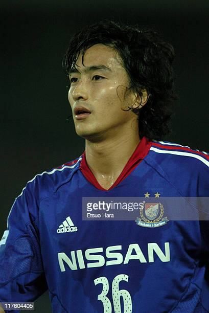 Ahn JungHwan of Yokohama F Marinos in action during the JLeague Division 1 first stage match between Yokohama F Marinos and Shimizu SPulse at...