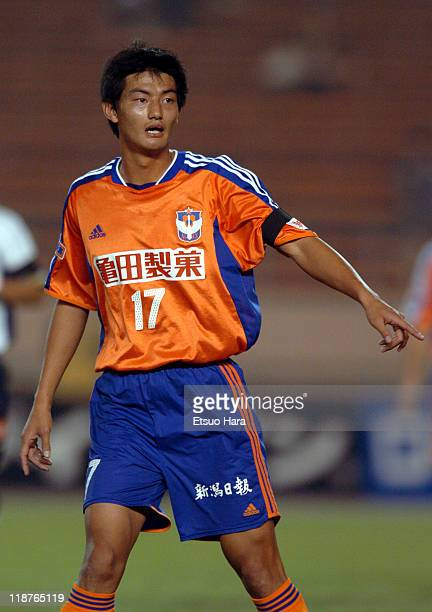 Ahn YoungHak of Albirex Niigata in action during the JLeague Division 1 second stage match between Albirex Niigata and Kashiwa Reysol at the National...