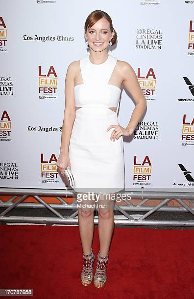 Ahna O'Reilly arrives at the 2013 Los Angeles Film Festival 'Fruitvale Station' premiere held at Regal Cinemas LA LIVE Stadium 14 on June 17 2013 in...
