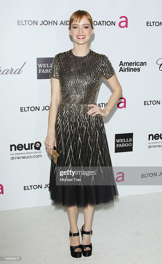Ahna O'Reilly arrives at the 20th Annual Elton John AIDS Foundation Academy Awards viewing party held across the street from the Pacific Design Center on February 26, 2012 in West Hollywood, California.