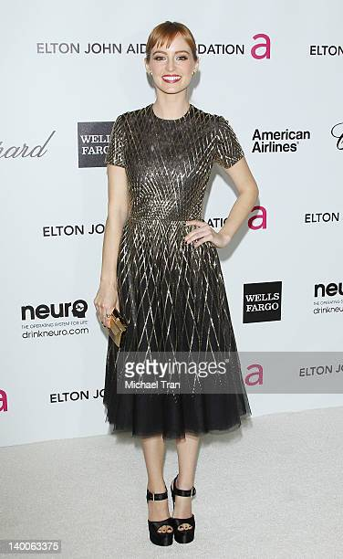 Ahna O'Reilly arrives at the 20th Annual Elton John AIDS Foundation Academy Awards viewing party held across the street from the Pacific Design...