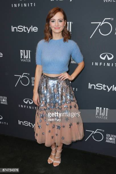 Ahna O'Reilly attends the Hollywood Foreign Press Association and InStyle celebrate the 75th Anniversary of The Golden Globe Awards at Catch LA on...