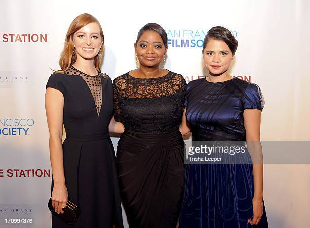 Ahna O'Reilly, Octavia Spencer and Melonie Diaz arrive at the premiere of The Weinstein Company's 'Fruitvale Station' at The Grand Lake Theater on...