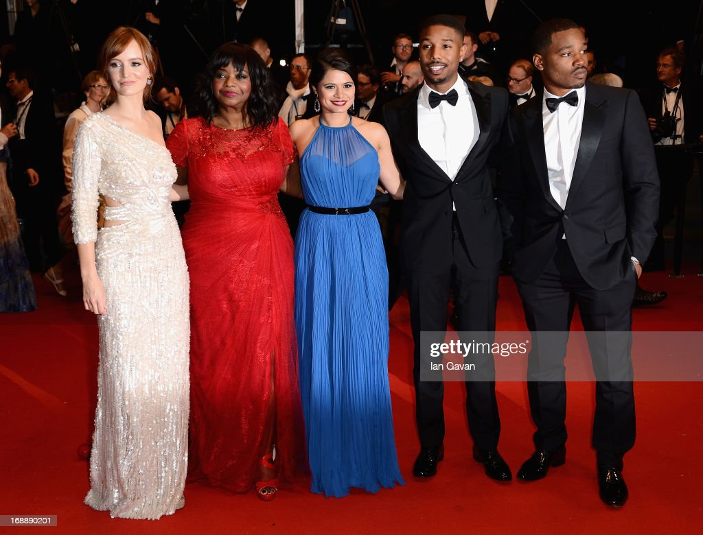 Ahna O'Reilly, Octavia Spencer, Melonie Diaz, Michael B. Jordan and Ryan Coogler attend the 'Fruitvale Station' Premiere during the 66th Annual Cannes Film Festival at the Palais des Festivals on May 16, 2013 in Cannes, France.