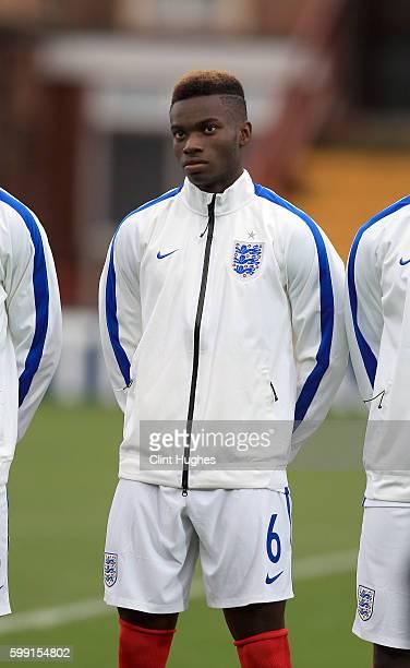 Ahogrenashinme Kigbu of England U18 during the international friendly match between England U18 and Italy U18 at Highbury Stadium on September 1 2016...