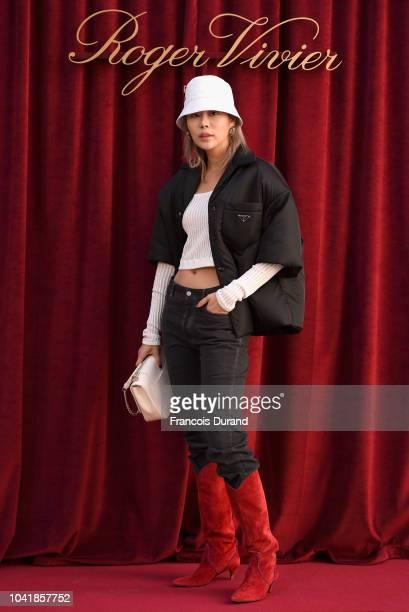 Ahreum Ahn attends the Roger Vivier Presentation Spring/Summer 2019 during Paris Fashion Week on September 27 2018 in Paris France