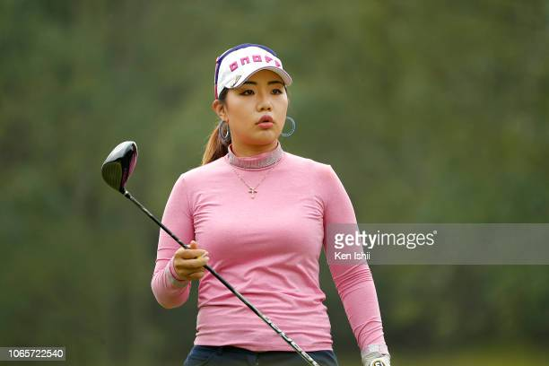 AhReum Hwang of South Korea hits a tee shot on the 3rd hole during the second round of the ItoEn Ladies at the Great Island Club on November 10 2018...