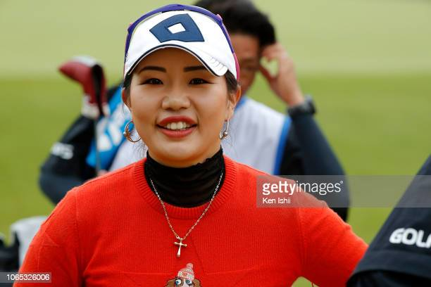 AhReum Hwang of South Korea walks off the 18th hole during the first round of the ItoEn Ladies at the Great Island Club on November 09 2018 in Chonan...