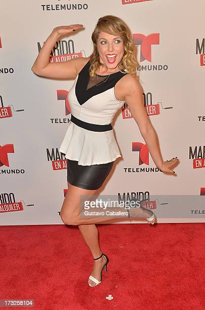 Ahrid Hannaley attends Telemundos 'Marido en Alquiler' Presentation on July 10 2013 in Miami Florida