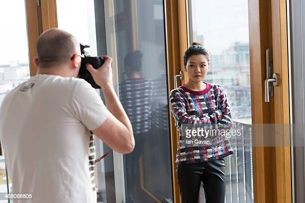 Ahsung Ko poses during a portrait session for Contour Photographer Francois Berthier during the 64th Berlinale International Film Festival on...