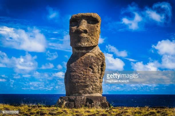 ahu hanga kioe, easter island, chile - easter island stock pictures, royalty-free photos & images