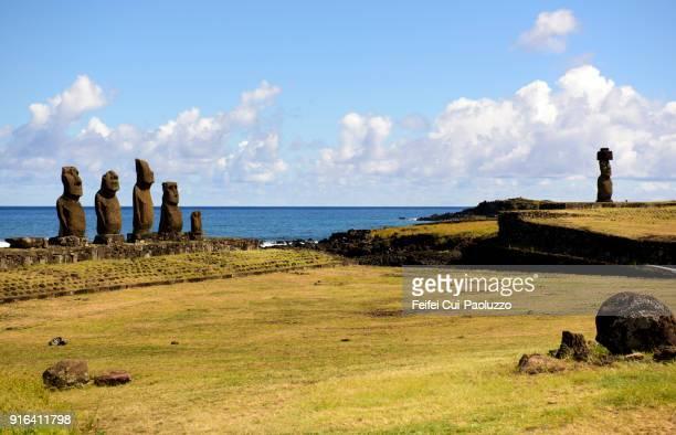 Ahu Tahai moai statue at Rapa Nui, Chile