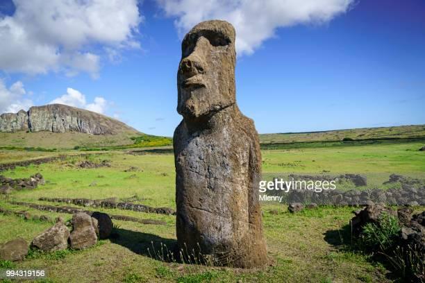 ahu tongariki moai easter island rapa nui isla de pascua - ancient history stock photos and pictures