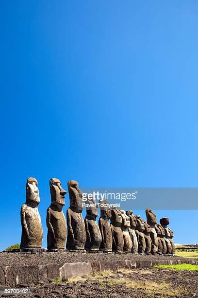 Ahu Tongariki, restorated moai altar