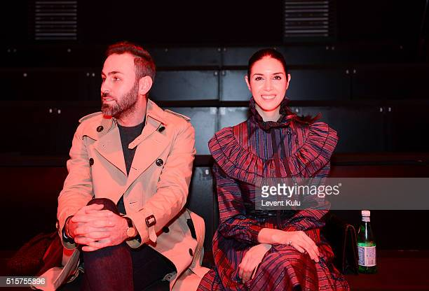 Ahu Yagtu and guest attend the Bora Aksu show during the MercedesBenz Fashion Week Istanbul Autumn/Winter 2016 at Zorlu Center on March 15 2016 in...