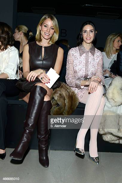 Ahu Yagtu and guest attend the Ozgur Masur show during Mercedes Benz Fashion Week Istanbul FW15 on March 17 2015 in Istanbul Turkey