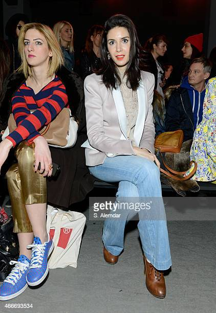 Ahu Yagtu attends the Giray Sepin show during Mercedes Benz Fashion Week Istanbul FW15 on March 18 2015 in Istanbul Turkey