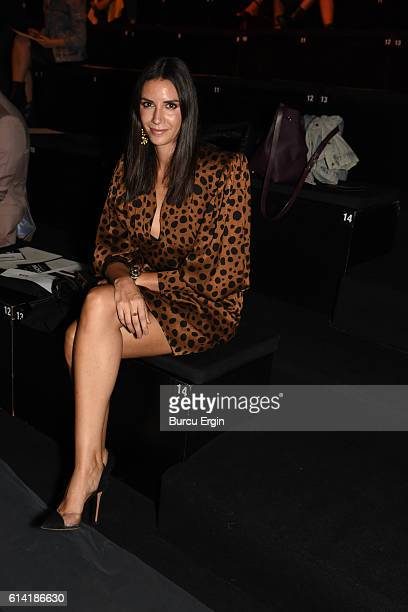 Ahu Yagtu attends the Ozgur Masur show for MercedesBenz Fashion Week Istanbul at Zorlu Center on October 12 2016 in Istanbul Turkey