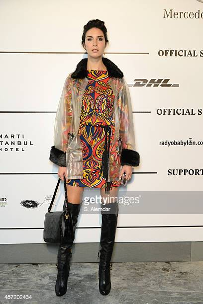 Ahu Yagtu attends the Selim Baklaci show during Mercedes Benz Fashion Week Istanbul SS15 at Antrepo 3 on October 14 2014 in Istanbul Turkey