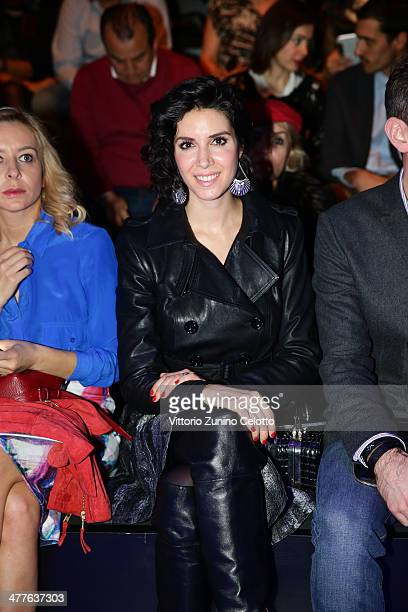 Ahu Yagtu attends the Tuba Ergin show at MBFWI presented by American Express Fall/Winter 2014 on March 10 2014 in Istanbul Turkey