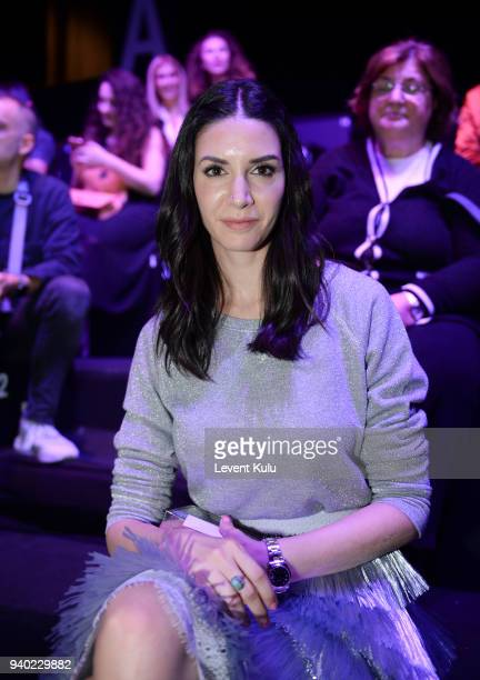 Ahu Yagtu attends the Zeynep Tosun show during Mercedes Benz Fashion Week Istanbul at the Zorlu Performance Hall on March 30 2018 in Istanbul Turkey
