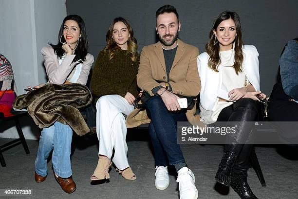 Ahu Yagtu guests and Buse Terim attend the Ozlem Kaya show during Mercedes Benz Fashion Week Istanbul FW15 on March 18 2015 in Istanbul Turkey