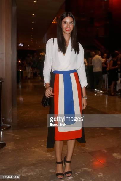 Ahu Yagtu i seen during MercedesBenz Istanbul Fashion Week September 2017 at Zorlu Center on September 13 2017 in Istanbul Turkey