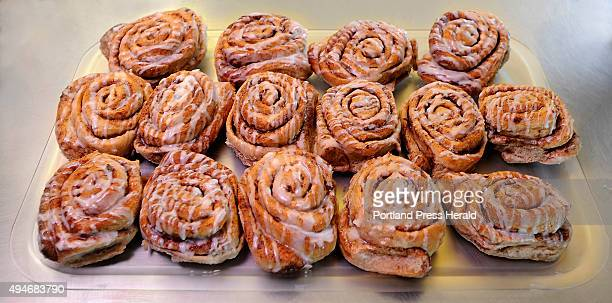 Ahura Diliiza, owner of Daily Bread Bakery in Standish, makes his cinnamon buns without salt and are his best sellers.