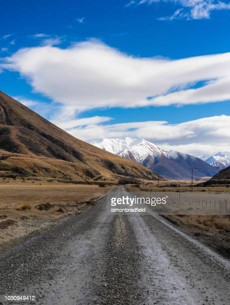 ahuriri valley, north otago, new zealand - valley stock pictures, royalty-free photos & images