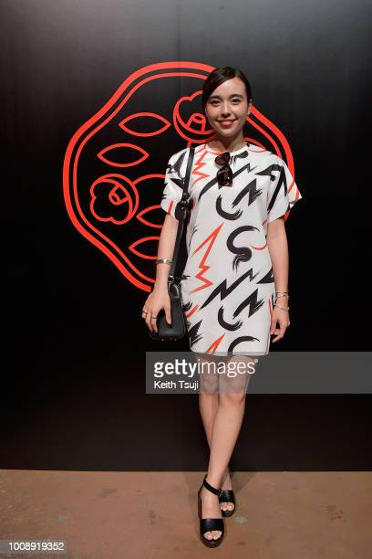 Ai Clayton attends the Shiseido Makeup Tokyo Launch Event on August 1 2018 in Tokyo Japan