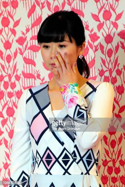 Ai Fukuhara attends a press conference on her retirement on October 23 2018 in Tokyo Japan