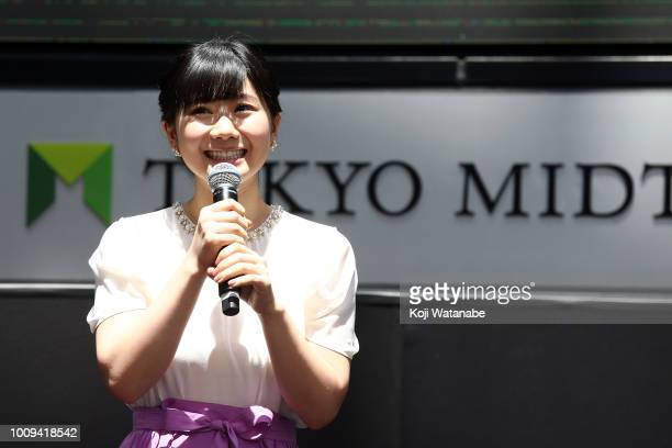 Ai Fukuhara of T.League attends the new table tennis league 'T.League' press conference on August 2, 2018 in Tokyo, Japan.