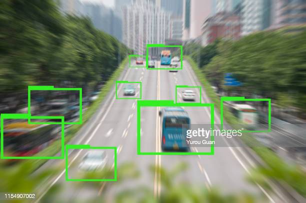 ai learning. motion blur of rush hour city road in guangzhou. - deep learning stock pictures, royalty-free photos & images