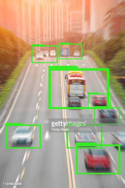 ai learning. motion blur of rush hour city road in guangzhou. - deep learning stock photos and pictures