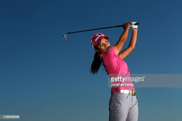 Ai Miyazato of Japan poses for a portrait during the Safeway Classic at Pumpkin Ridge Golf Club on August 18 2011 in North Plains Oregon