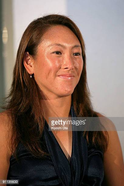 Ai Sugiyama of Japan attends a press conference for the Toray Pan Pacific Open Tennis 2009 at Hotel Grand Pacific Le Daiba on September 25 2009 in...