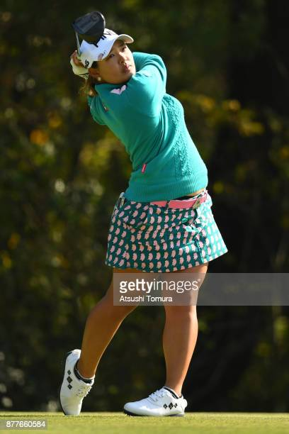 Ai Suzuki of Japan hits her tee shot on the 4th hole during the first round of the LPGA Tour Championship Ricoh Cup 2017 at the Miyazaki Country Club...