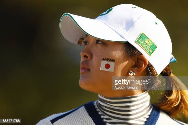 Ai Suzuki of Japan looks on during the first round of the Queens at Miyoshi Country Club on December 1 2017 in Miyoshi Hyogo Japan