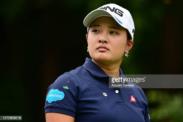 Ai Suzuki of Japan looks on during the practice round ahead of the Descente Ladies Tokai Classic at the Shin Minami Aichi Country Club Mihama Course...