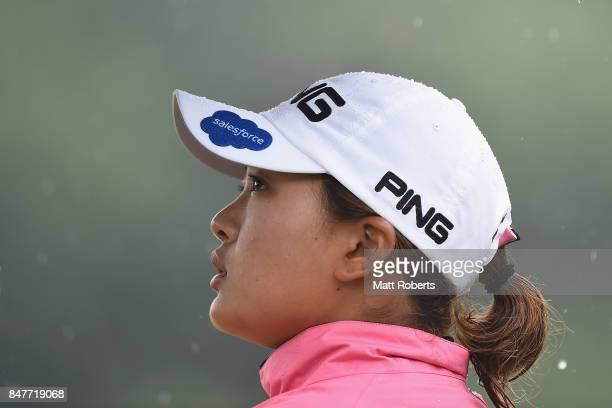Ai Suzuki of Japan looks on during the second round of the Munsingwear Ladies Tokai Classic 2017 at the Shin Minami Aichi Country Club Mihama Course...