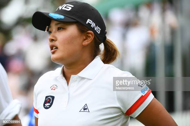 Ai Suzuki of Japan looks on during the third round of the Earth Mondamin Cup at the Camellia Hills Country Club on June 24 2017 in Sodegaura Japan