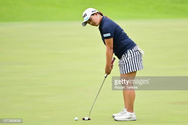 Ai Suzuki of Japan putts on the 12th hole during the practice round ahead of the Descente Ladies Tokai Classic at the Shin Minami Aichi Country Club...
