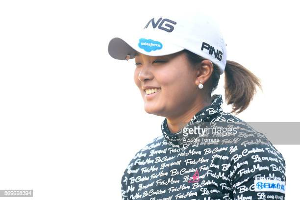 Ai Suzuki of Japan smiles during the first round of the TOTO Japan Classics 2017 at the Taiheiyo Club Minori Course on November 3 2017 in Omitama...