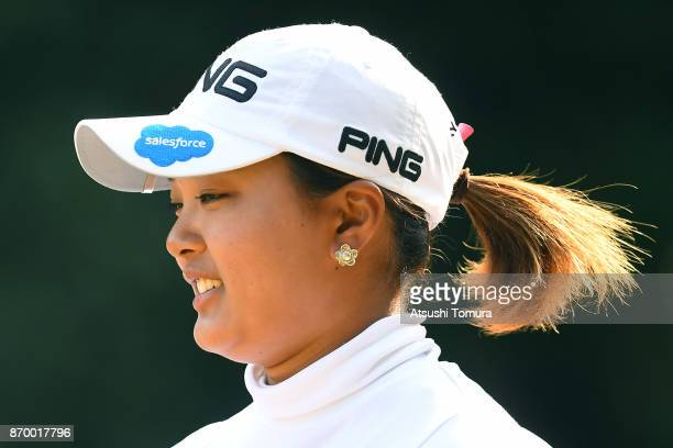 Ai Suzuki of Japan smiles during the second round of the TOTO Japan Classics 2017 at the Taiheiyo Club Minori Course on November 4 2017 in Omitama...