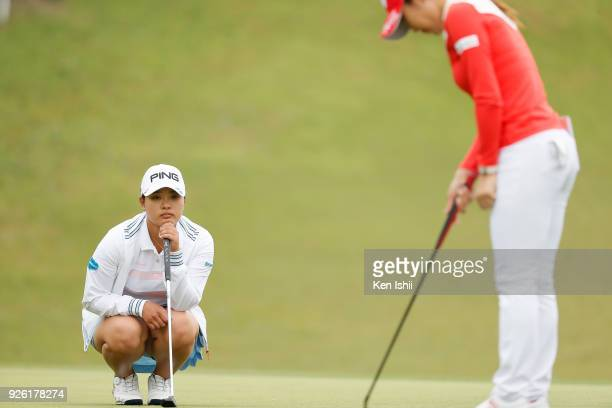 Ai Suzuki of Japan watches during the second round of the Daikin Orchid Ladies at Ryukyu Golf Club on March 2 2018 in Nanjo Okinawa Japan