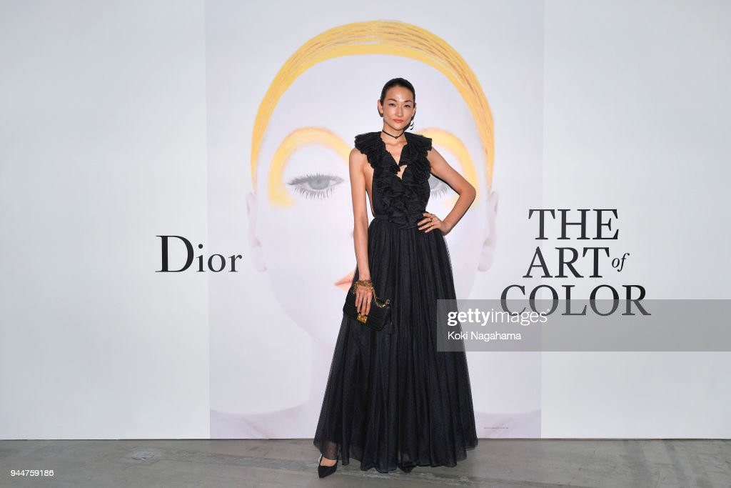 Ai Tominaga attends Dior's The Art of Color Press Preview on April 11, 2018 in Tokyo, Japan.