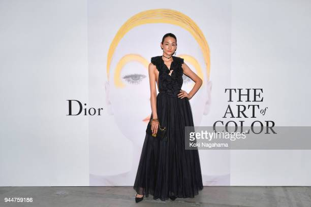 Ai Tominaga attends Dior's The Art of Color Press Preview on April 11 2018 in Tokyo Japan